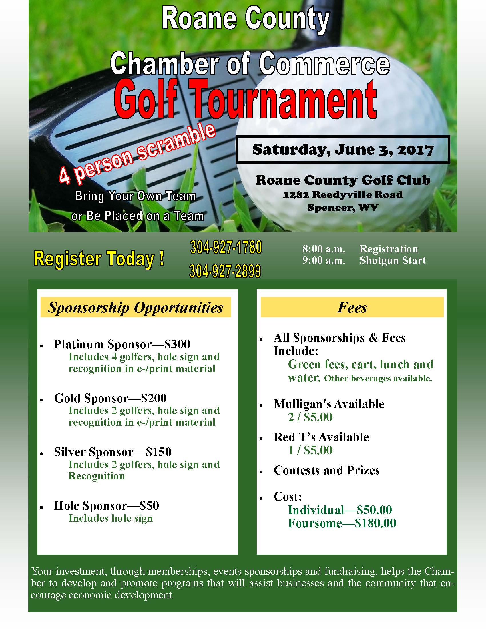 2017 Golf Tournament Flyer 2